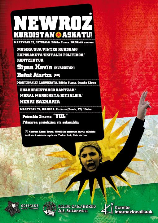 Newroz, la fiesta nacional del pueblo kurdo, este fin de semana en Bilbo Face3